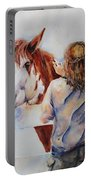 Horses And Children Painting Portable Battery Charger
