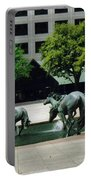 Horses At William Square  Portable Battery Charger