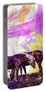 Horses Flock Pasture Animal  Portable Battery Charger