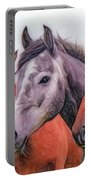 Horses - Id 16217-202746-6154 Portable Battery Charger