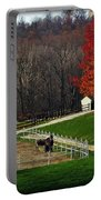 Horses In Autumn Portable Battery Charger