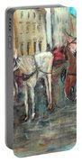 Horses In Florence Portable Battery Charger