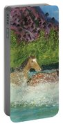 Horses In Stream Portable Battery Charger