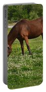Horses In The Meadow 2 Portable Battery Charger