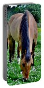 Horses In The Meadow Portable Battery Charger