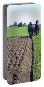 Horses Plowing Rows  Portable Battery Charger