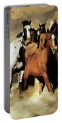 Horses Stampede 091 Portable Battery Charger
