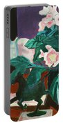 Horses With Floral Portable Battery Charger