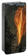 Horsetail Falls In Yosemite National Park Portable Battery Charger