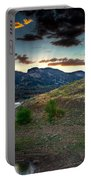 Horsetooth Reservior At Sunset Portable Battery Charger