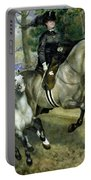 Horsewoman In The Bois De Boulogne Portable Battery Charger