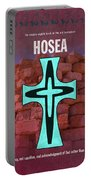 Hosea Books Of The Bible Series Old Testament Minimal Poster Art Number 28 Portable Battery Charger