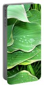 Hostas And Grass Portable Battery Charger