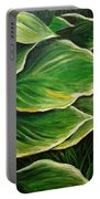 Hostas And Grass Painting Portable Battery Charger