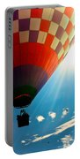 Hot Air Balloon Eclipsing The Sun Portable Battery Charger