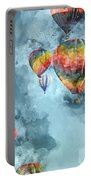Hot Air Balloons Digital Watercolor On Photograph Portable Battery Charger