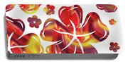 Hot Flowers Dancing Silhouettes Portable Battery Charger