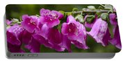 Hot Pink Foxglove Portable Battery Charger