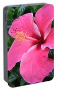 Hot Pink Hibiscus 1 Portable Battery Charger