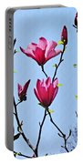 Hot Pink Magnolias Portable Battery Charger