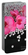 Hot Pink Orchids 2 Portable Battery Charger