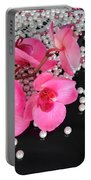 Hot Pink Orchids Portable Battery Charger
