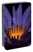 Hot Purple Water Lily Portable Battery Charger