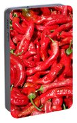 Hot Red Peppers In The Summer Sun Portable Battery Charger
