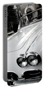 Hot Rod Black And White Portable Battery Charger