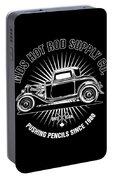 Hot Rod Shop Shirt Portable Battery Charger