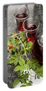Hot Rosehip Tea In Glass Portable Battery Charger