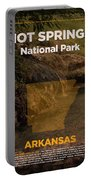 Hot Springs National Park In Arkansas Travel Poster Series Of National Parks Number 31 Portable Battery Charger