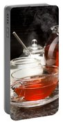 Hot Steaming Tea With Christmas Biscuits Portable Battery Charger