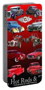 Car Show And Shine Poster Portable Battery Charger