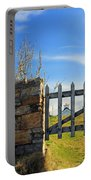 House Behind The Fence Portable Battery Charger