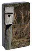 House On A Crooked Fence Post Portable Battery Charger