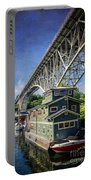 Houseboat And Aurora Bridge Seattle Portable Battery Charger
