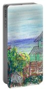 Houses At Whalehead Beach Portable Battery Charger
