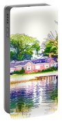 Houses By The Lake 1 Portable Battery Charger