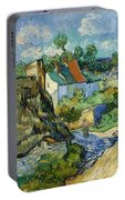 Houses In Auvers Portable Battery Charger