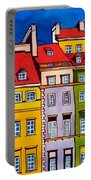 Houses In The Oldtown Of Warsaw Portable Battery Charger