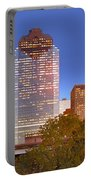 Houston Texas Skyline At Dusk Portable Battery Charger