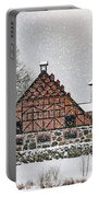 Hovdala Castle Gatehouse And Stables In Winter Portable Battery Charger
