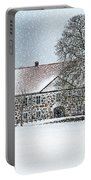 Hovdala Castle Main House In Winter Portable Battery Charger