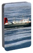 Hovercraft On Frozen Artic Ocean Portable Battery Charger