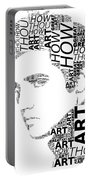 How Great Thou Art Elvis Wordart Portable Battery Charger
