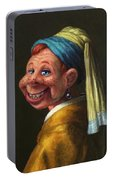 Howdy With A Pearl Earring Portable Battery Charger