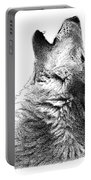 Howling Timber Wolf Portable Battery Charger