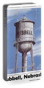 Hubbell Water Tower Poster Portable Battery Charger