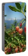 Huckleberry Flowers Atop Huckleberry Mountain In Glacier National Park Montana Portable Battery Charger
